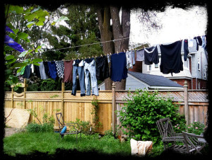 clothes line--green spring cleaning