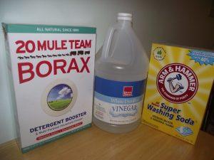 Borax, vinegar, washing soda -- green spring cleaning