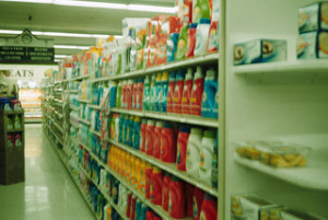 cleaning aisle, green spring cleaning