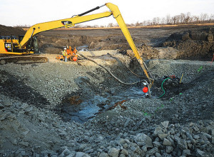 Coal ash spill site