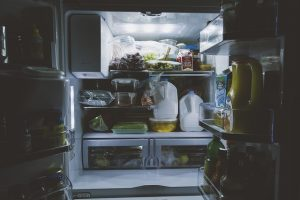 refrigerator, green spring cleaning